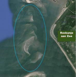Strand Rockanje aan zee zandbanken